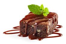 Piece Of Chocolate Brownie Cake