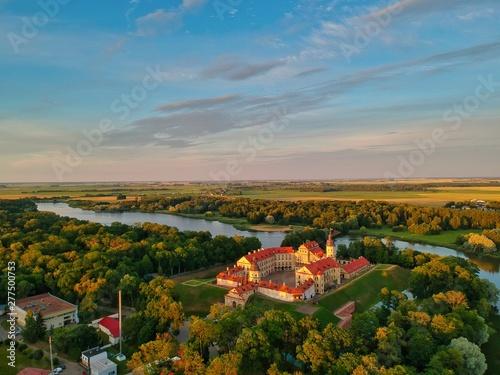 Foto op Aluminium Oranje Aerial view of Nesvizh, Minsk region, Belarus