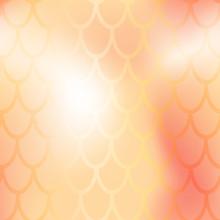 Mermaid Or Fish Scale Seamless Pattern. Golden Mermaid Skin Vector Background. Marine Pattern Tile. Holographic Gradient