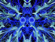 canvas print picture - Abstract composition in blue tones. 3D rendering.