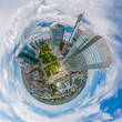canvas print picture - Frankfurt City Downtown