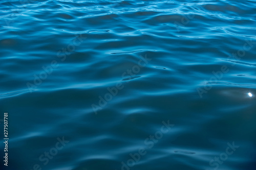Blue sea water surface as background. High resolution Canvas Print
