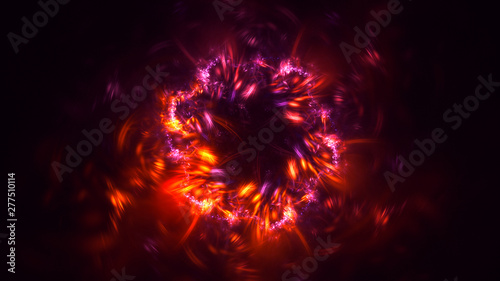 Obraz 3D rendering abstract round light background - fototapety do salonu