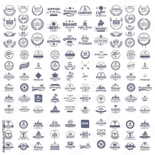 Photo  mega set of premium vintage badge - logo design vector