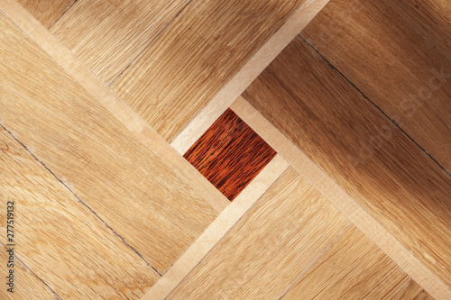 Deurstickers Europa Parquet with geometric ornament