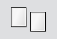 Vector Modern Frames On A Whit...