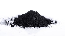 Activated Charcoal Isolated On...