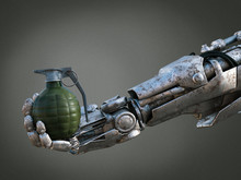 3D Rendering Of Robot Hand Hol...