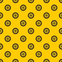 Camera Aperture Pattern Seamless Vector Repeat Geometric Yellow For Any Design