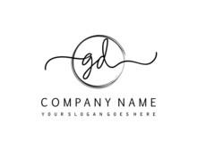 GD Initial Handwriting Logo Vector