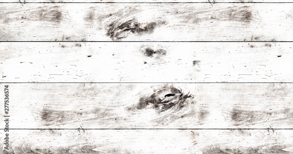 top view of rustic white wooden table background template