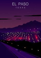 El Paso Modern Vector Poster. ...