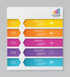 5 steps simple&editable process chart infographics element. EPS 10.