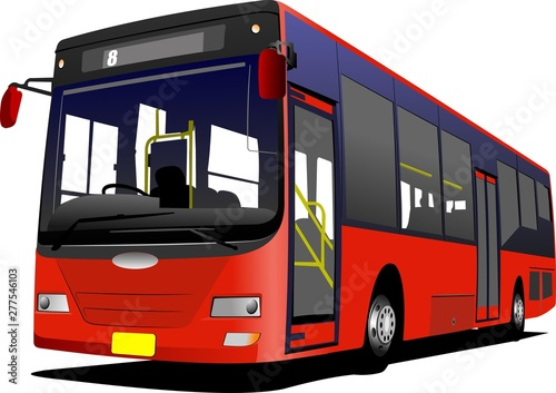 Fotografía bus isolated on white background