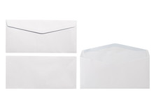 White Envelope Front And Back ...