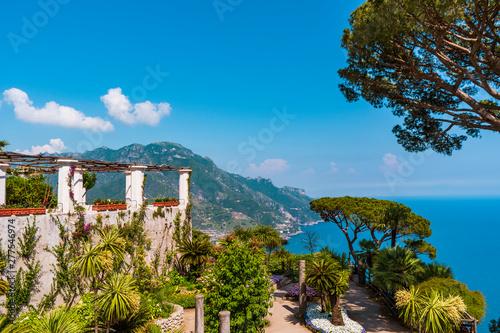 Photo Stands Vienna The beautiful gardens of Villa Rufolo in Ravello, Amalfi Coast in Italy