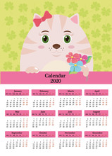 Calendar For 2011 With Rabbit