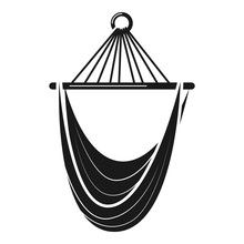 Textile Hammock Icon. Simple Illustration Of Textile Hammock Vector Icon For Web Design Isolated On White Background