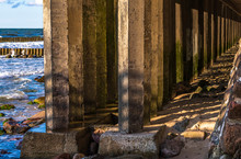 Colonnade Of Concrete Supports...