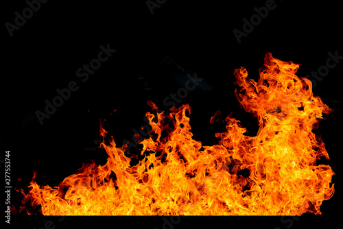 Foto op Plexiglas Vlam Abstract Fire flames, Blaze fire flame texture for banner background, Conceptual image of burning fire, Perfect fire particles on black background-Image