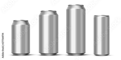 Aluminium beer, energy drink or soda pack mock up Canvas Print