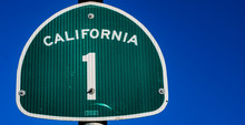 THe Pacific Coast Highway 1 Sign In California