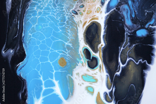 Acrylic colors. Colorful blots. Abstract background. Marble texture.