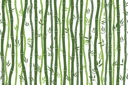 Photo Seamless pattern with bamboo stalks