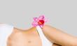 Leinwandbild Motiv Intimate woman aesthetic abdomen beauty belly body