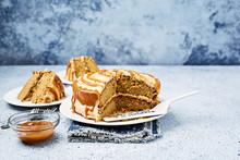 Salted Caramel And Banana Cake Wide