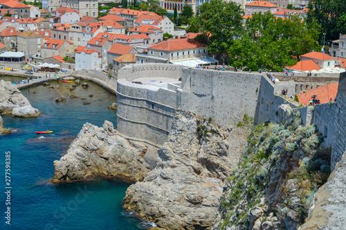 Walls of ancient town Dubrovnik, Croatia on June 18, 2019 Fototapet