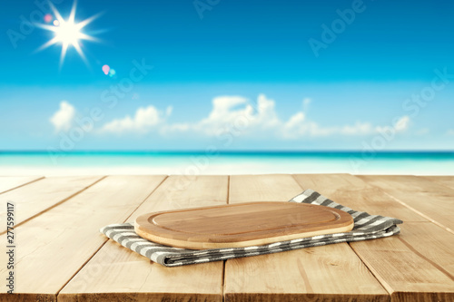 Summer beach background of free space for your decoration and sunny day.