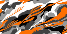 Car Decal Design Vector. Abstract Racing Graphic Stripe Background Kit For Vehicle Vinyl Wrap