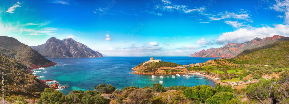 Fototapety, obrazy: Girolata bay in natural reserve of Scandola