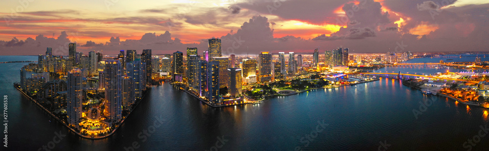 Fototapety, obrazy: Miami Downtown Panorama