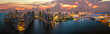canvas print picture - Miami Downtown Panorama