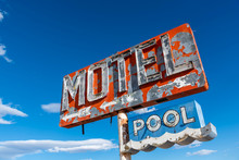 A Dilapidated, Vintage Motel S...