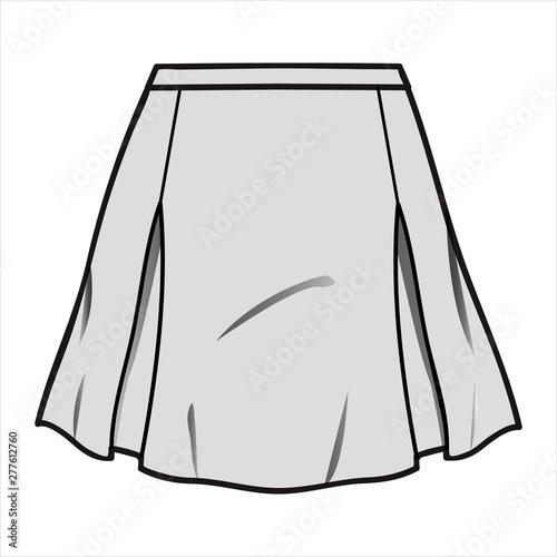 Carta da parati SKIRT fashion flat sketch template
