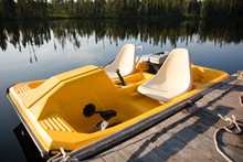 A Paddle Boat In The Lake In Ontario Canada