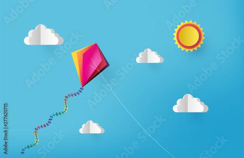 kite on sky Canvas Print