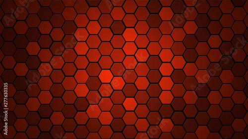 Obraz na plátně  Honeycomb Grid tile random background or Hexagonal cell texture