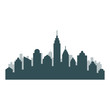 Set of cityscape background. Skyline silhouettes. Modern architecture. Horizontal banner with megapolis panorama. Vector illustration.