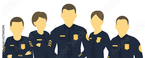 Canvas Print Police team