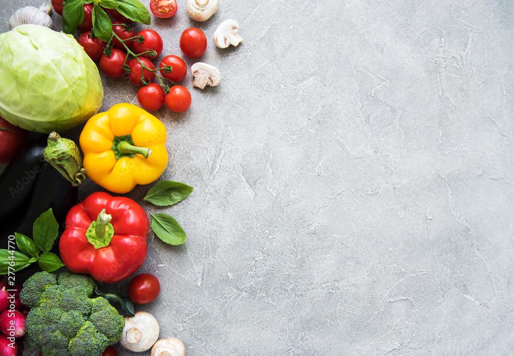 Fototapety, obrazy: Set of vegetables