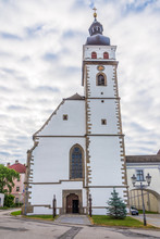 View At The Church Of Saint Peter And Paul In Nove Hrady - Czech Republic
