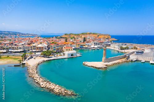 Foto op Plexiglas Schip Old Venetian harbor of Rethimno, Crete, Greece