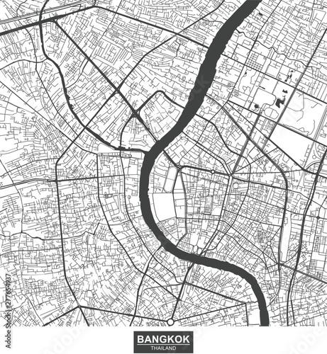 Photo  Bangkok city vector map , Thailand