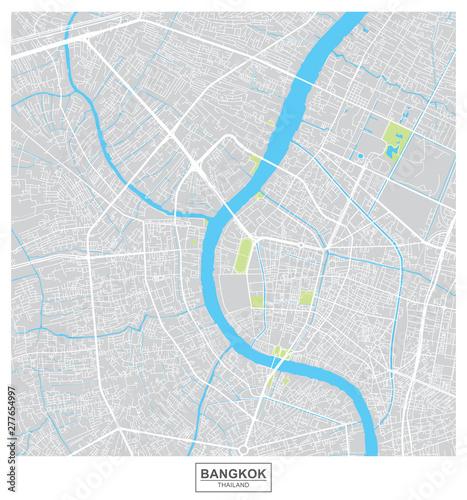 Fotografía Bangkok city vector map , Thailand