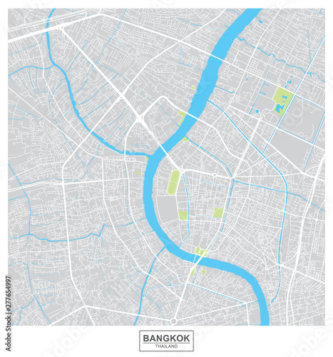 Fotografie, Obraz Bangkok city vector map , Thailand