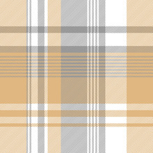 Gold Silver Color Check Fabric Texture Seamless Pattern